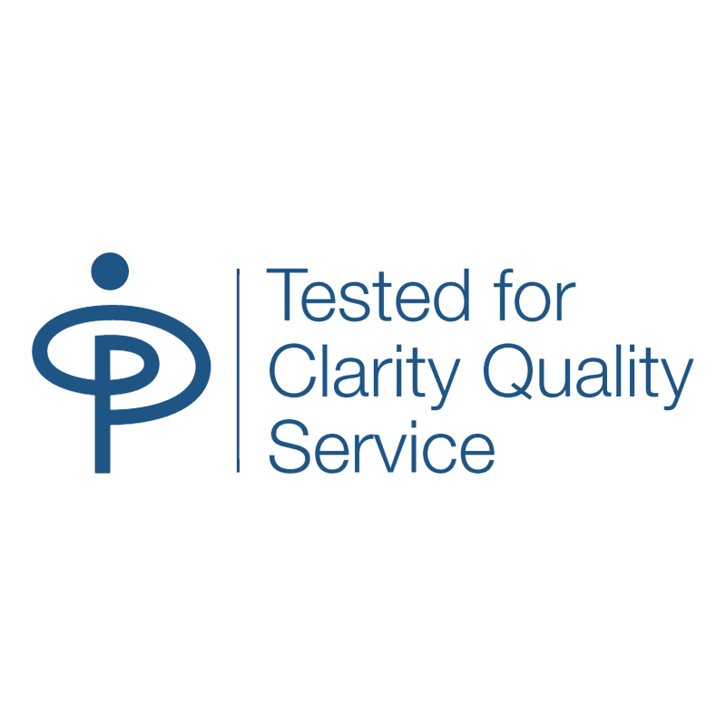 Tested for Clarity Quality Services vector