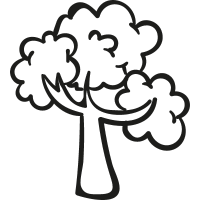 Woods Tree vector