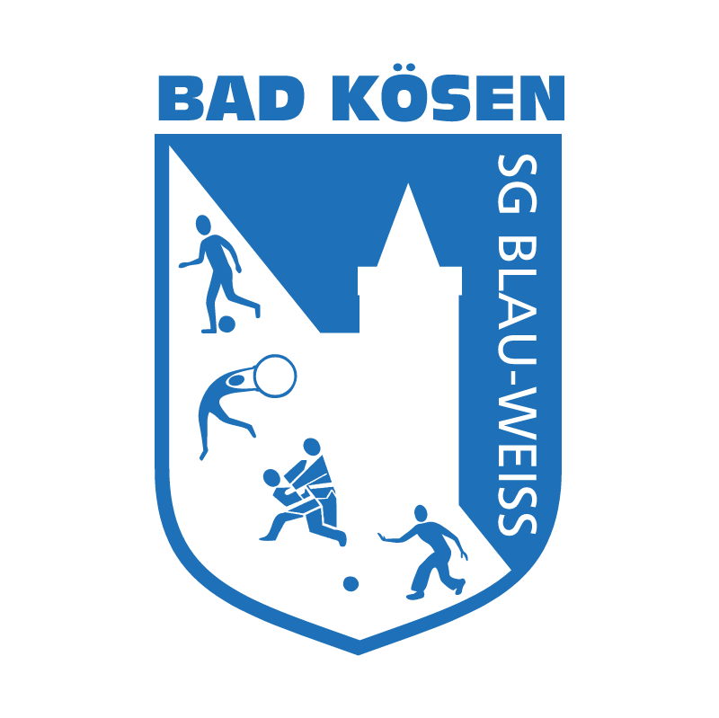 Blau Weiss Bad Koesen vector