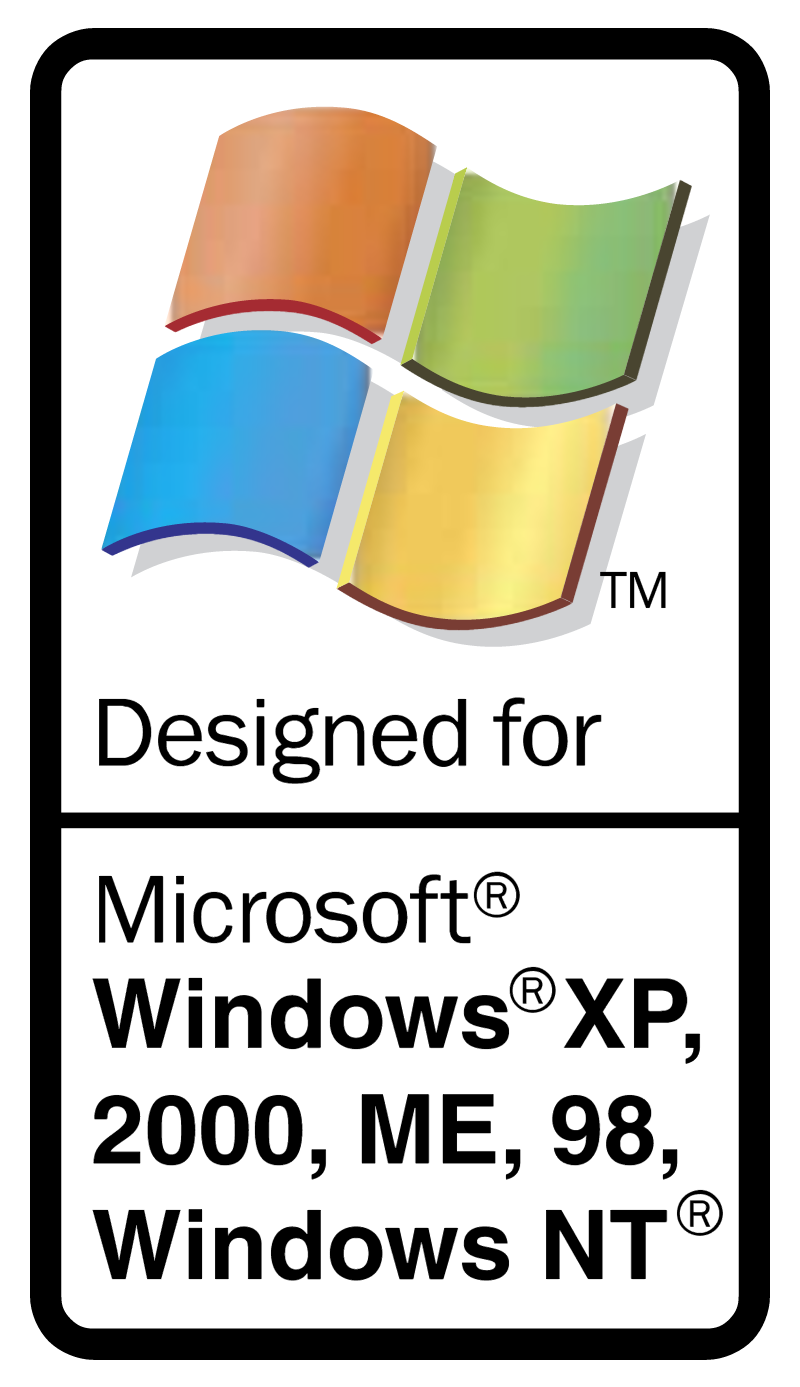 Designed for Microsoft Windows vector logo