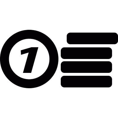 Number and database vector logo