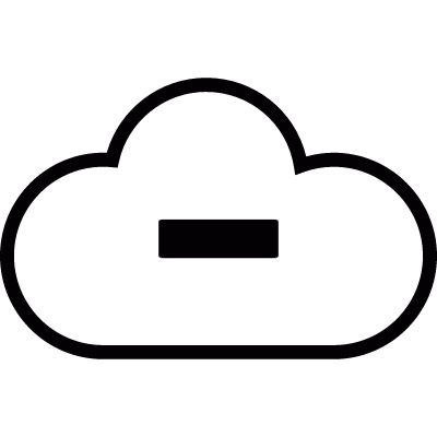 Cloud with minus sign vector logo