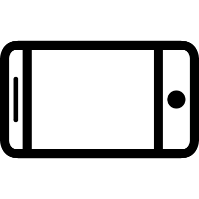 Horizontal position option of screen visualization of a phone or a tablet vector logo