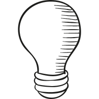 Drawed Light Bulb vector