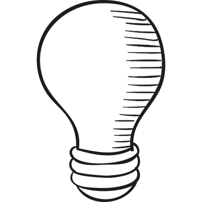 Drawed Light Bulb vector logo
