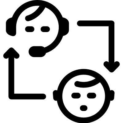 Supporting User vector logo