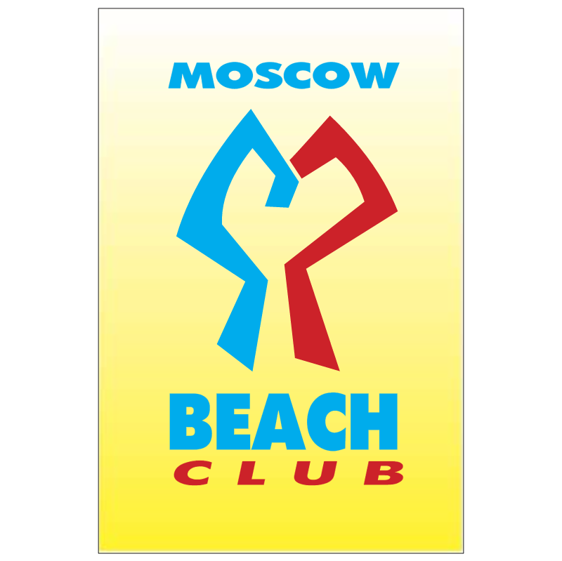 Beach Club Moscow vector