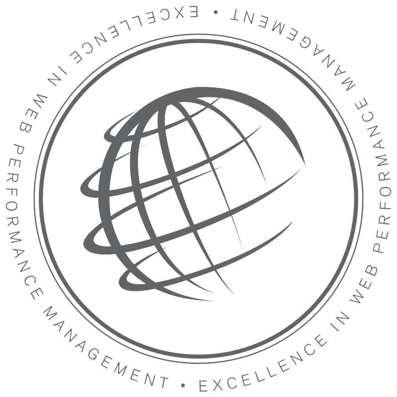 Excellence in web performance management vector logo