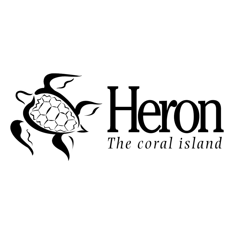 Heron The coral island vector