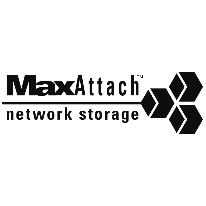 MaxAttach network storage vector logo
