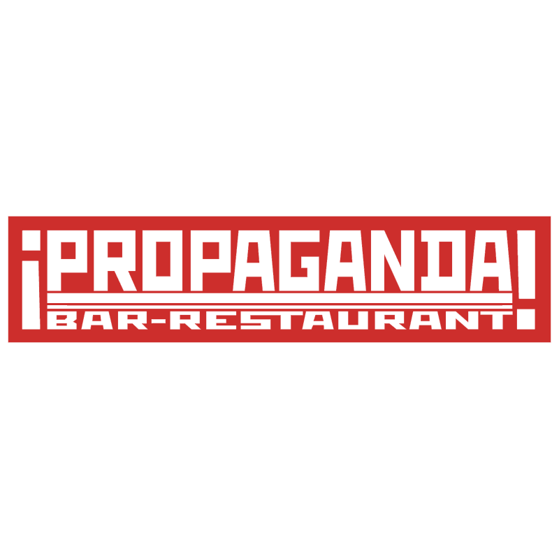 Propaganda Bar Restaurant vector logo