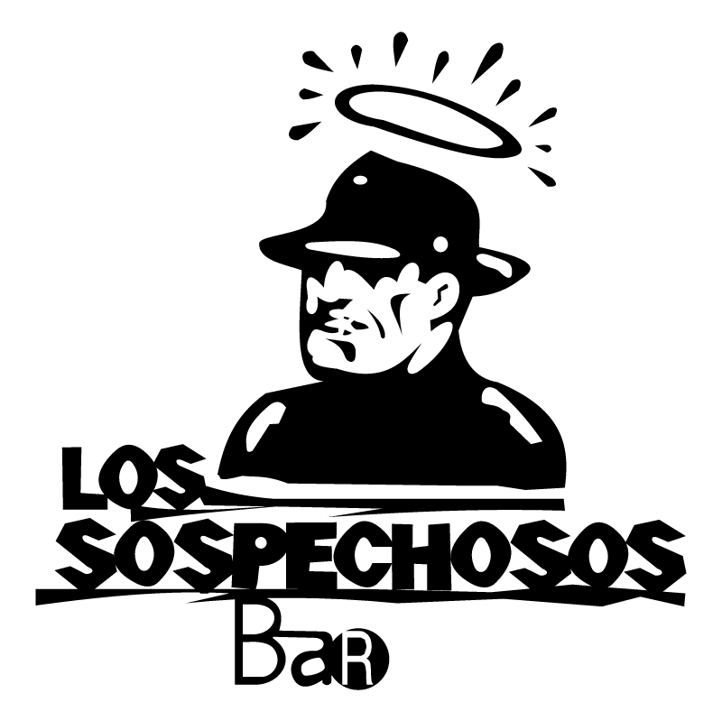Sospechosos Bar vector