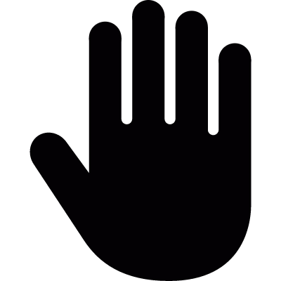 Palm of hand vector logo