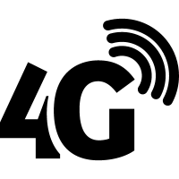 4G phone connection symbol