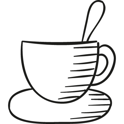 Coffee Cup with Spoon vector logo
