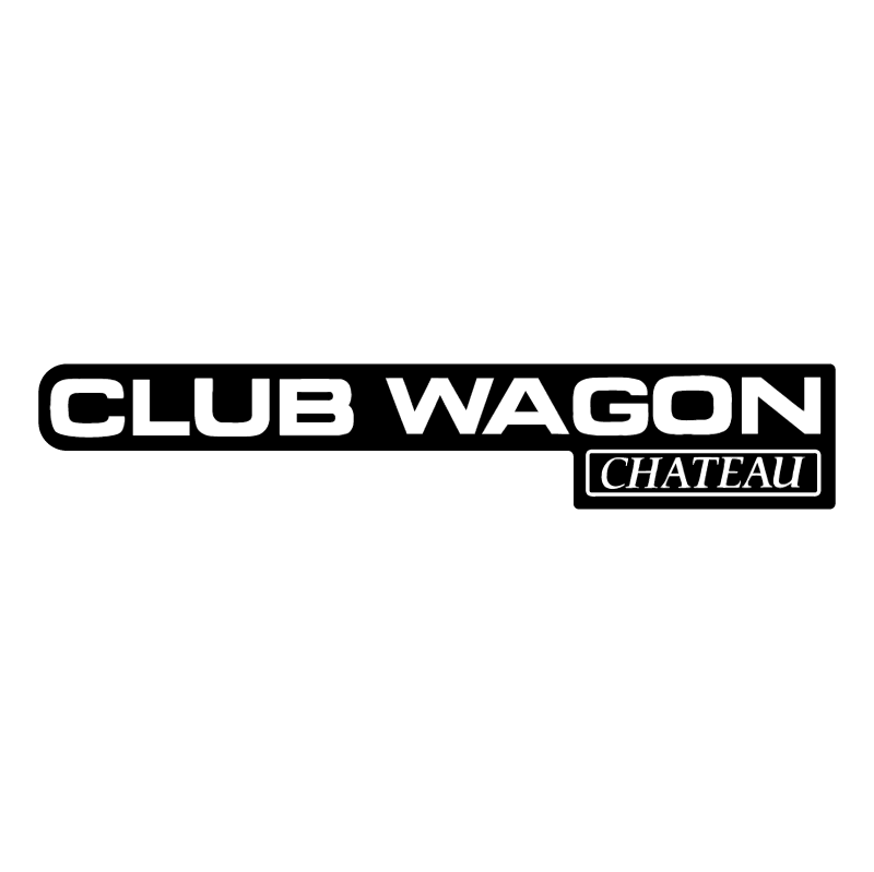 Club Wagon Chateau vector