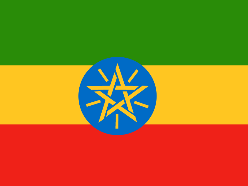 Flag of Ethiopia vector