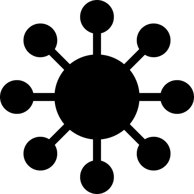 Cell variant with receptors vector logo