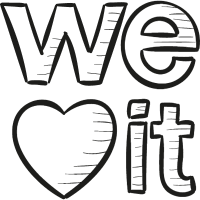 Weheartit Draw Logo vector