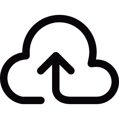Upload to the Cloud vector logo