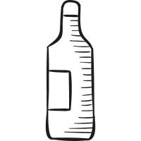 Big Wine Bottle vector