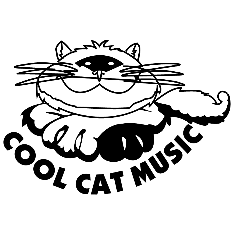 Cool Cat Music vector