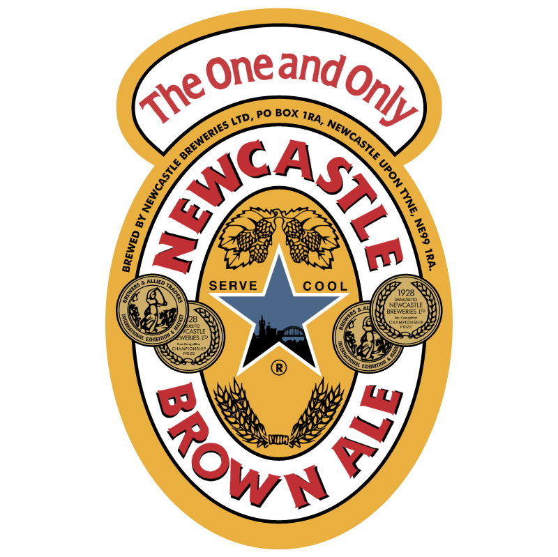 Newcastle Brown Ale vector