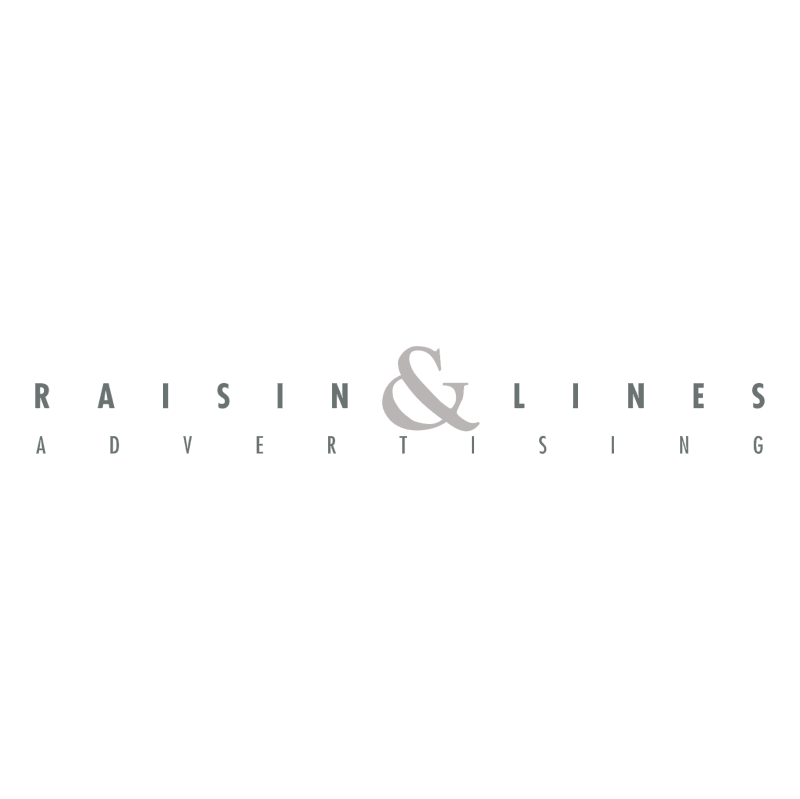 Raisin & Lines Advertising vector