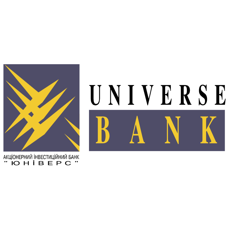 Universe Bank vector logo