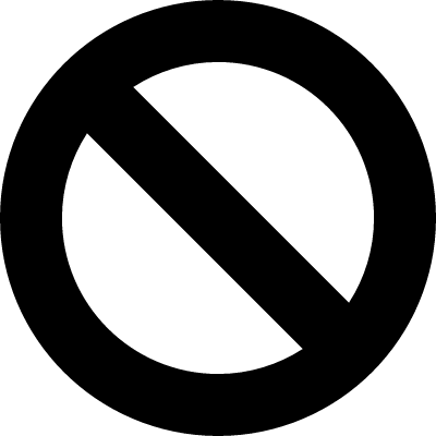 Prohibition symbol of a circle with a slash vector logo