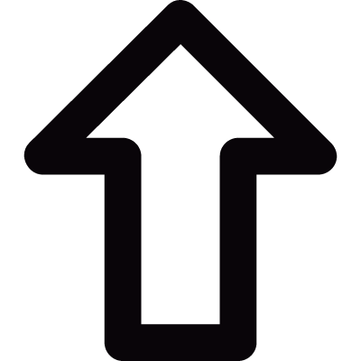 Outlined up arrow vector logo