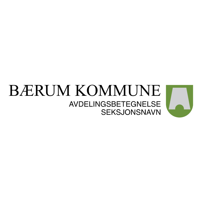Baerum kommune 63033 vector