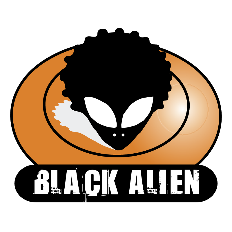 Black Alien vector logo