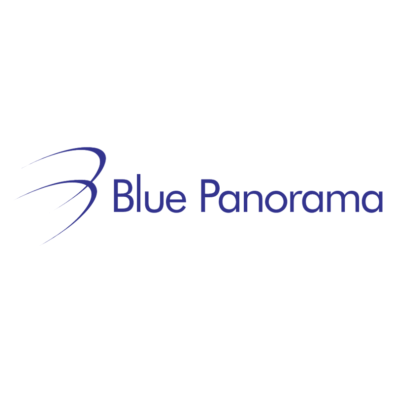Blue Panorama vector logo