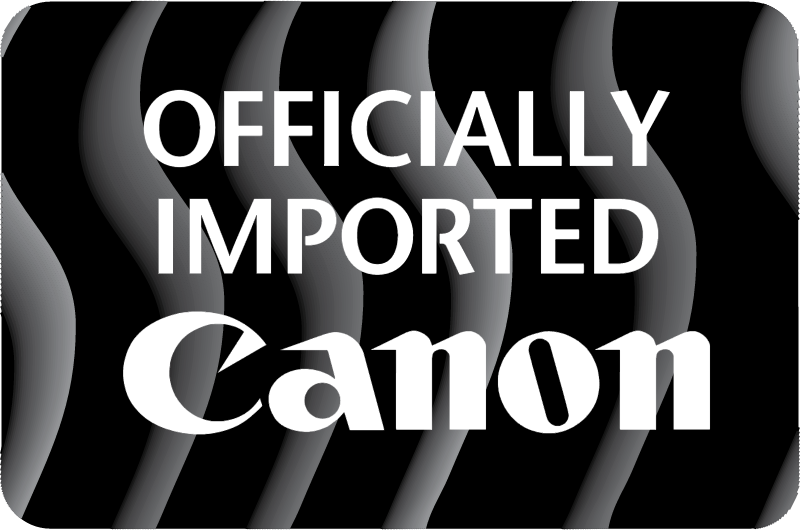 Canon Officially Imported vector