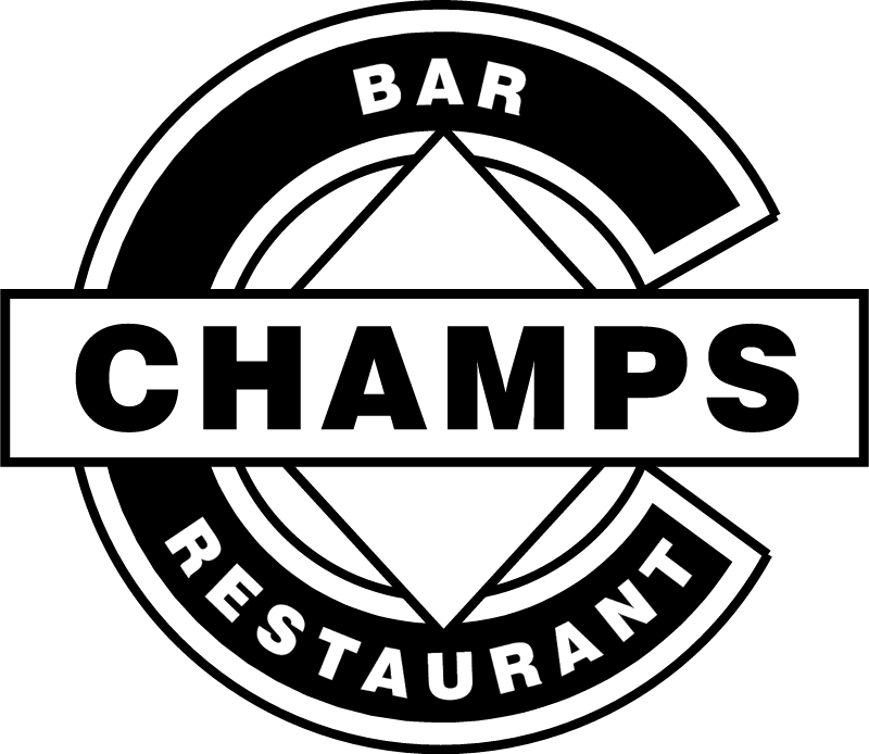 Champs Bar Restaurant vector
