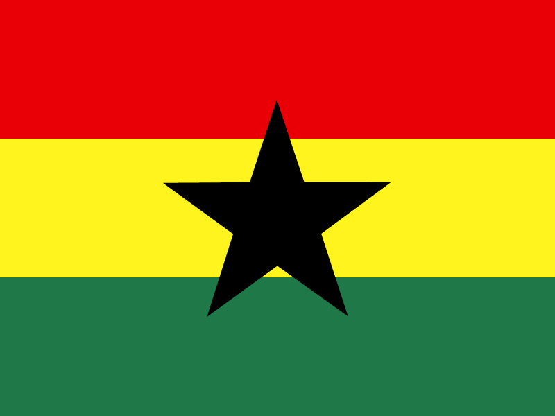 Flag of Ghana vector