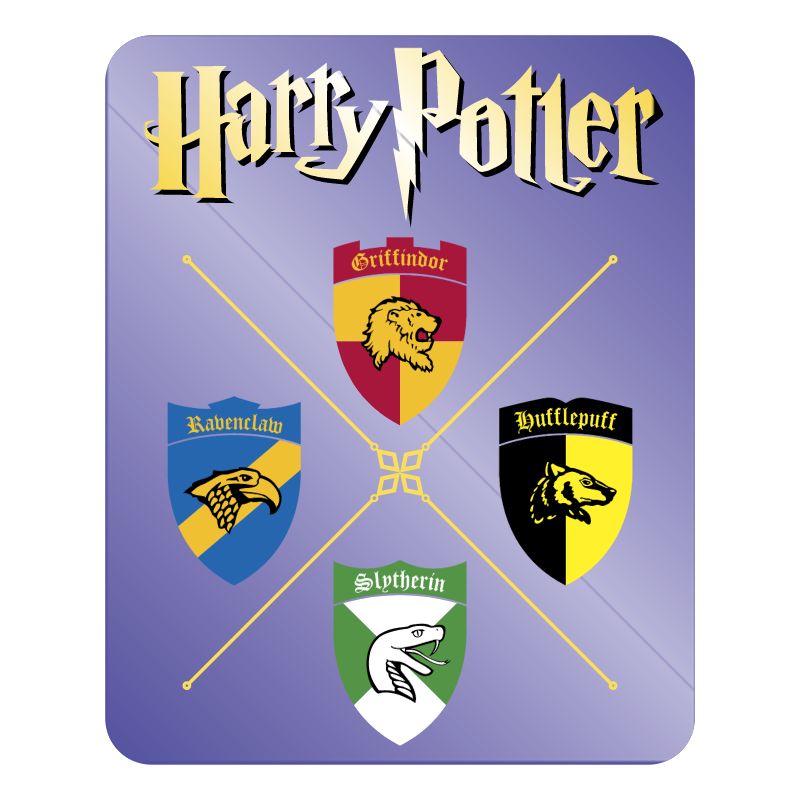 Griffindor Ravenclaw Slytherin Hufflepuff vector