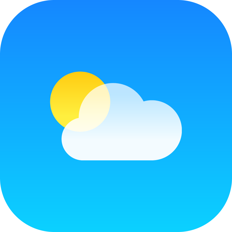 Weather iOS vector