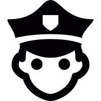 Policeman head vector