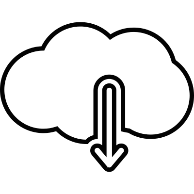 Download from cloud computing vector logo