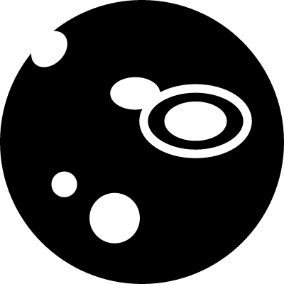 Space view in a circle of telescope vector logo