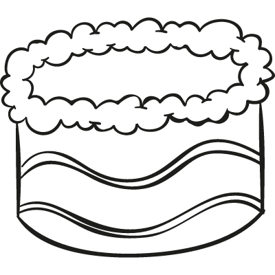 Decorated Cake vector logo