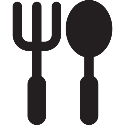 Small fork and spoon vector logo