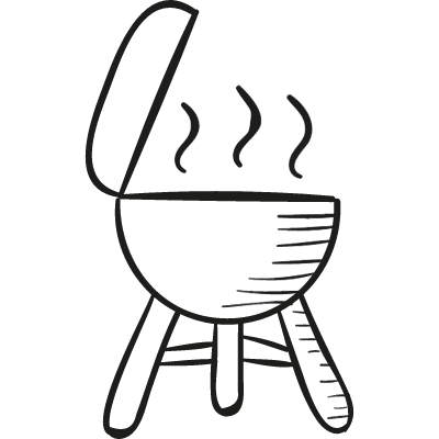Barbecue with Cover vector logo