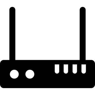 Modem with Two Antenna vector logo