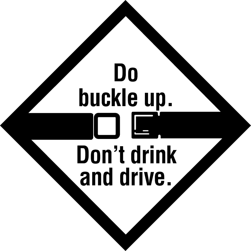 BUCKLE UP DONT DRINK vector logo