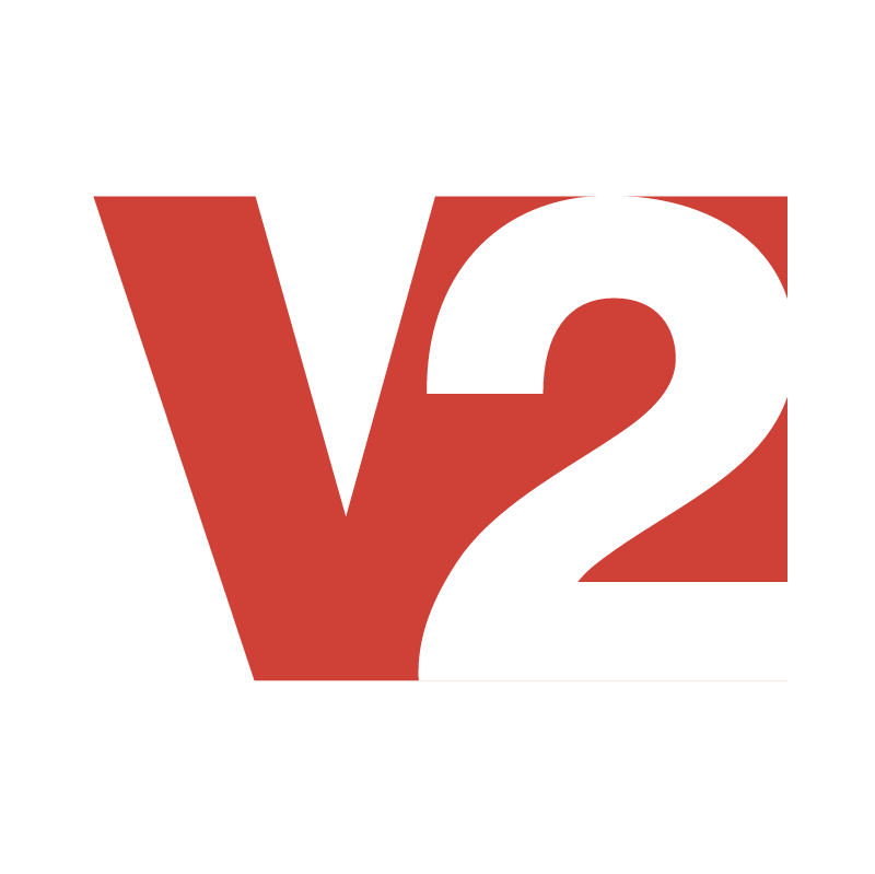 V2 Music vector logo