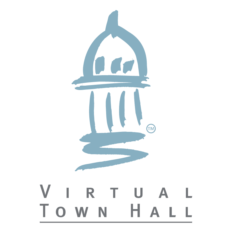 Virtual Town Hall vector logo