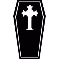 Coffin of Count Dracula vector